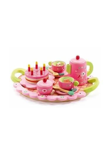 Djeco Djeco Ahşap Parti Seti / Lili Rose's Tea Party Pembe